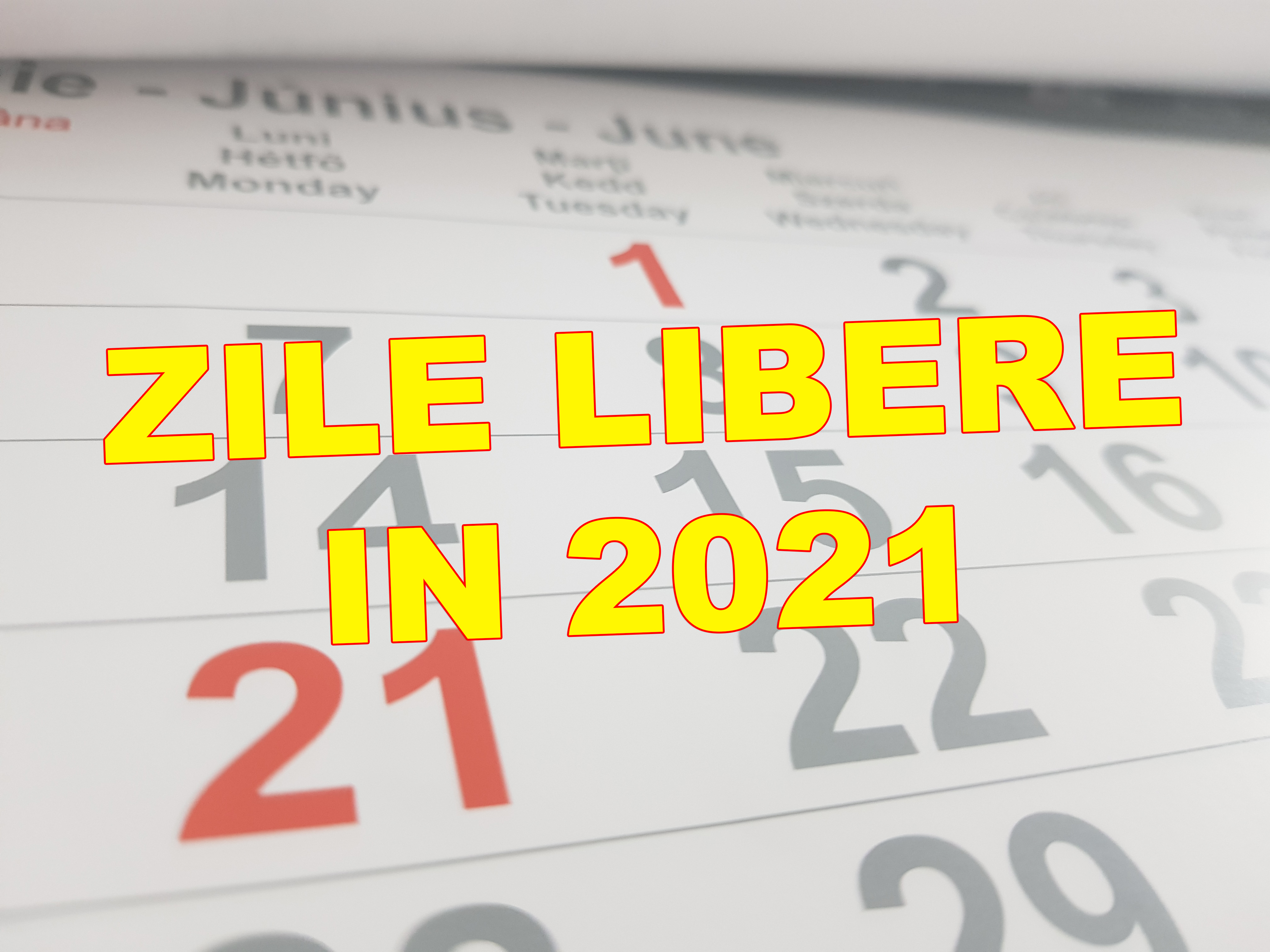 zile libere 2021